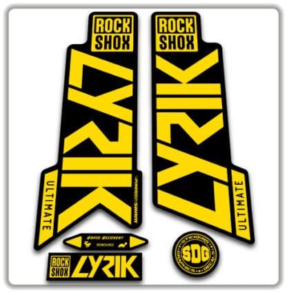 Rockshox Lyrik Ultimate Fork Stickers 2020
