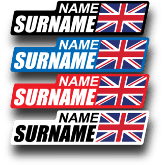 Bike Frame Name Stickers Flag png