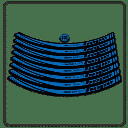 Blue Hope Tech DH 27.5 Rim Stickers