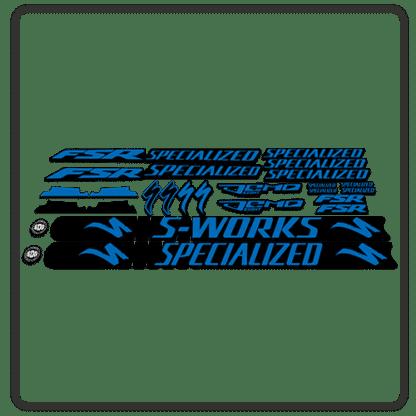 Blue Specialized Demo 8 Frame Set Stickers