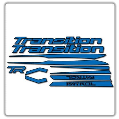 Blue Transition Patrol Alloy Frame Set Stickers