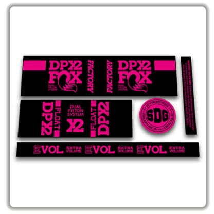 FOX FLOAT DPX2 FACTORY rear shock stickers