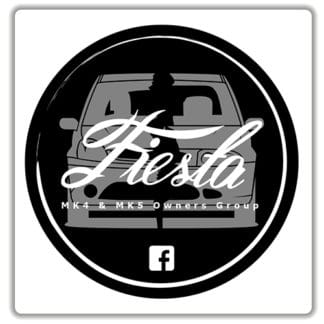 Fiesta MK4 & MK5 Owners Group Stickers white