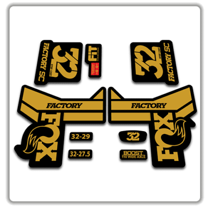 Fox 32 Step Cast Fork Stickers 2018 Gold