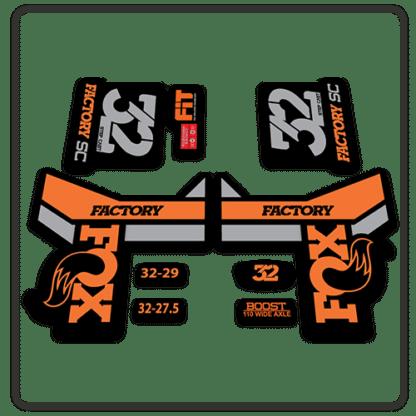 Fox 32 Step Cast Fork Stickers 2018 Original