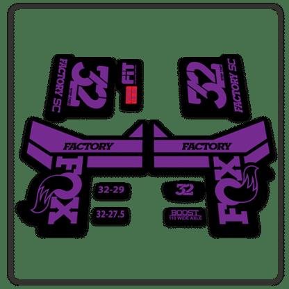 Fox 32 Step Cast Fork Stickers 2018 Purple