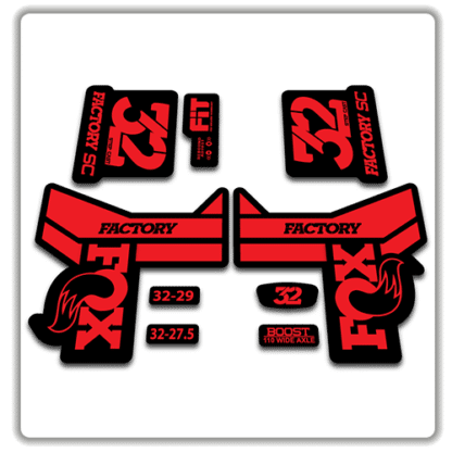 Fox 32 Step Cast Fork Stickers 2018 Red