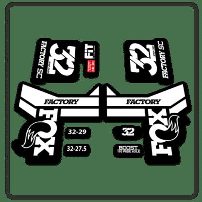 Fox 32 Step Cast Fork Stickers 2018 White