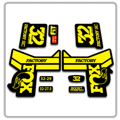 Fox 32 Step Cast Fork Stickers 2018 Yellow