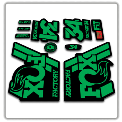 Fox 34 Fork Stickers 2018 Green