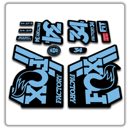 Fox 34 Fork Stickers 2018 Light Blue