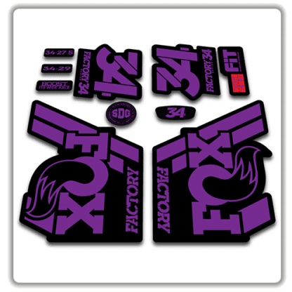 Fox 34 Fork Stickers 2018 Purple