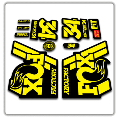 Fox 34 Fork Stickers 2018 yellow