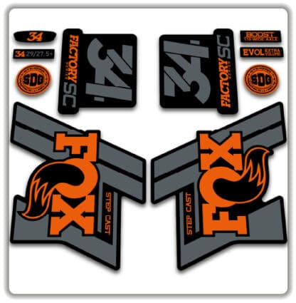 Fox 34 Step Cast fork stickers