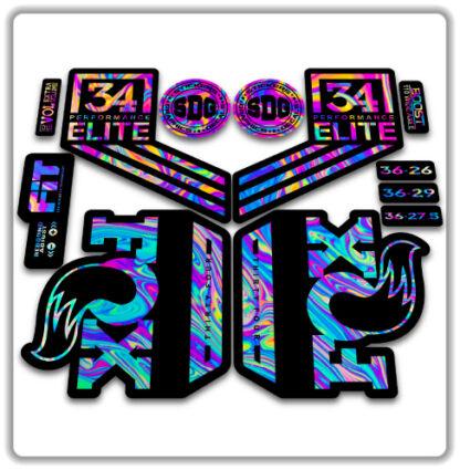 Fox 34 2018 Performance ELITE fork stickers