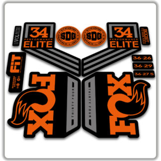 Fox 34 2018 Performance ELITE fork stickers