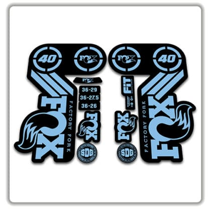 Fox 40 Heritage 2015 Fork Stickers light blue