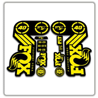 Fox 40 Heritage 2015 Fork Stickers yellow