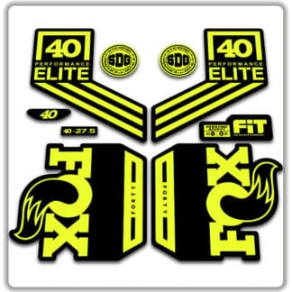 Fox 40 Performance Elite Fork Stickers 2018 2019