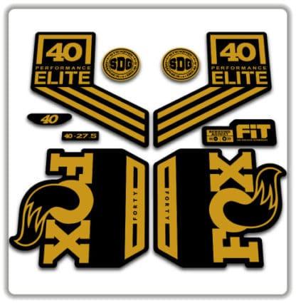 Fox 40 Performance Elite Fork Stickers 2018 2019