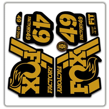 Fox 49 Fork Stickers 2018 gold