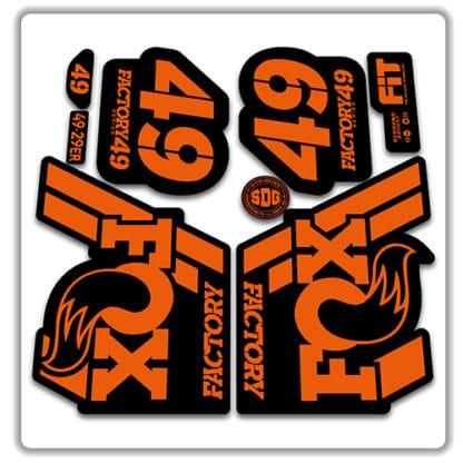 Fox 49 Fork Stickers 2018 orange