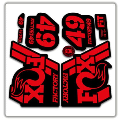 Fox 49 Fork Stickers 2018 red