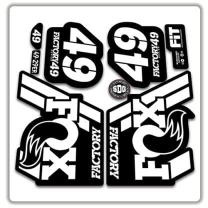 Fox 49 Fork Stickers 2018 white