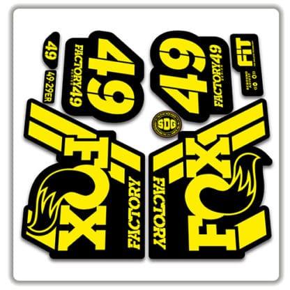 Fox 49 Fork Stickers 2018 yellow