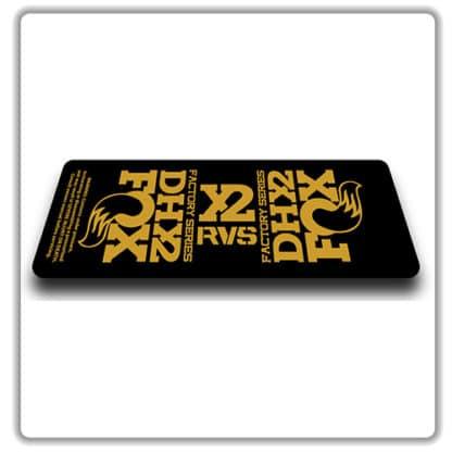 Fox DHX2 rear shock Stickers 2017 Gold