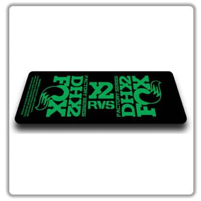 Fox DHX2 rear shock Stickers 2017 Green
