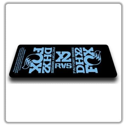 Fox DHX2 rear shock Stickers 2017 Light Blue