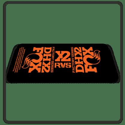 Fox DHX2 rear shock Stickers 2017 Orange