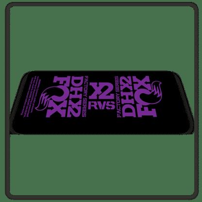 Fox DHX2 rear shock Stickers 2017 Purple