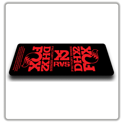 Fox DHX2 rear shock Stickers 2017 Red