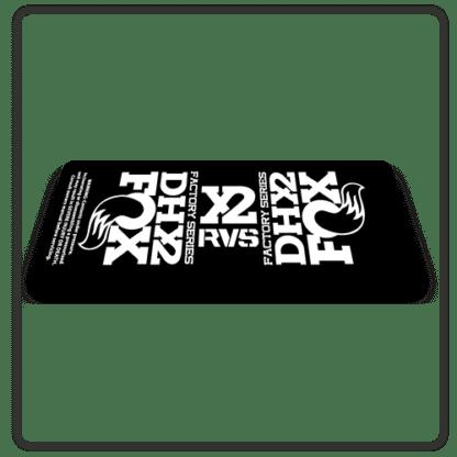 Fox DHX2 rear shock Stickers 2017 White