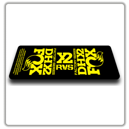 Fox DHX2 rear shock Stickers 2017 Yellow