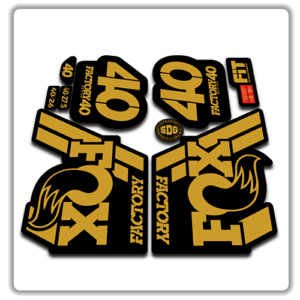 Fox Factory 40 2018 Fork Stickers Gold