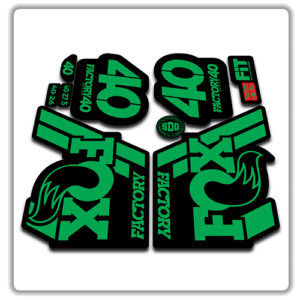 Fox Factory 40 2018 Fork Stickers Green