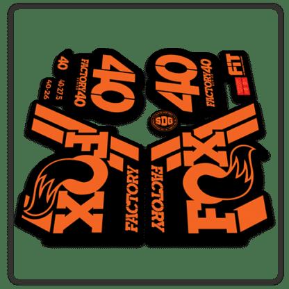 Fox Factory 40 2018 Fork Stickers Orange