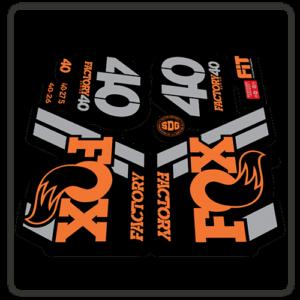 Fox Factory 40 2018 Fork Stickers Original