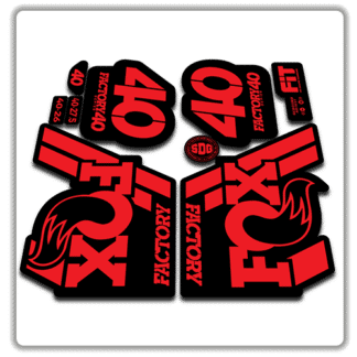 Fox Factory 40 2018 Fork Stickers Red