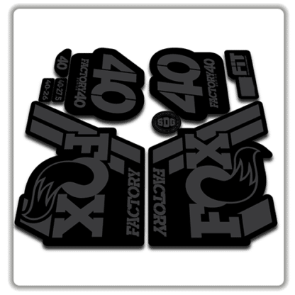 Fox Factory 40 2018 Fork Stickers Stealth