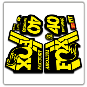 Fox Factory 40 2018 Fork Stickers Yellow