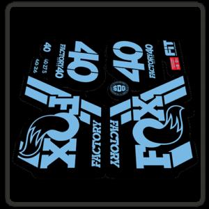 Fox Factory 40 2018 Fork Stickers light blue