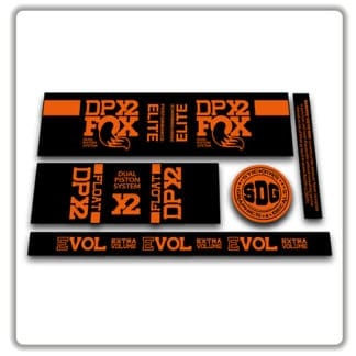 Fox Float DPX2 rear shock stickers orange