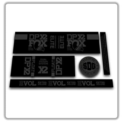 Fox Float DPX2 rear shock stickers stealth