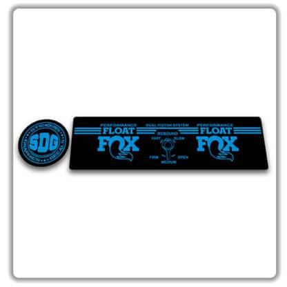 Fox Float DPS Performance Rear Shock Stickers 2017 2018