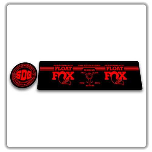 FOX DPS Float EVOL Performance 2018 Rear Shock Sticker Factory Decal White