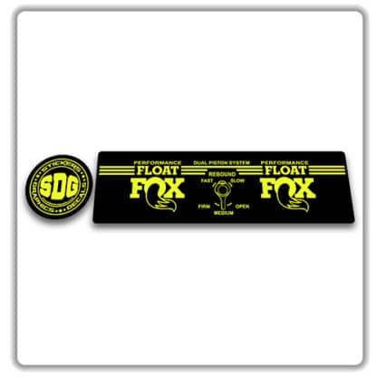 Fox Float Performance Rear Shock Stickers 2017 2018
